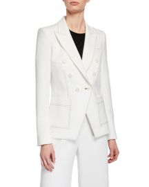 Veronica Beard Cosmo Double-Breasted Dickey Jacket at Neiman Marcus