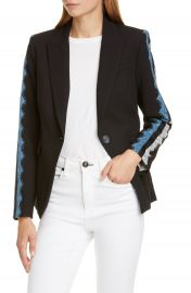 Veronica Beard Damari Lace Sleeve Dickey Jacket   Nordstrom at Nordstrom