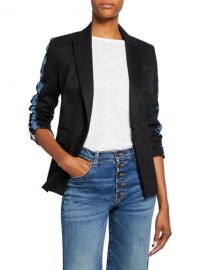 Veronica Beard Damari Long-Sleeve Lace Stripe Jacket at Neiman Marcus