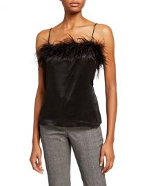 Veronica Beard Davis Cami w  Feathers at Neiman Marcus
