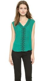 Veronica Beard Embroidered V Neck Top at Shopbop