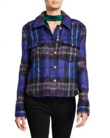 Veronica Beard Emmons Plaid Wool-Blend Jacket at Neiman Marcus