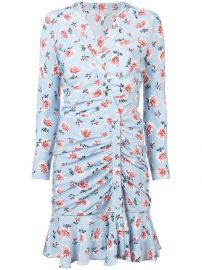 Veronica Beard Floral Print Asymmetric Dress at Farfetch