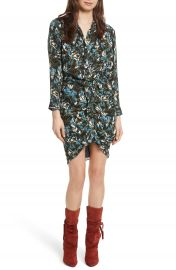 Veronica Beard Georgina Floral Print Silk Dress at Nordstrom