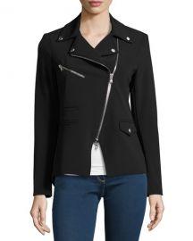 Veronica Beard Hadley Zip-Front Scuba Jacket at Neiman Marcus