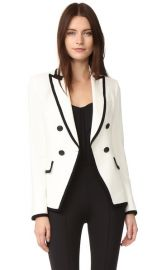 Veronica Beard Harriet Cutaway Contrast Blazer at Shopbop