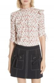 Veronica Beard Howell Silk Blouse at Nordstrom