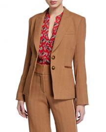 Veronica Beard Hudson Herringbone Dickey Jacket at Neiman Marcus
