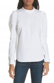 Veronica Beard Isabel Puff Sleeve Shirt at Nordstrom