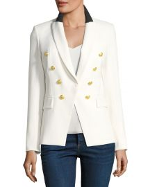 Veronica Beard Jack Peak-Lapel One-Button Blazer   Neiman Marcus at Neiman Marcus