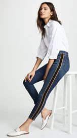 Veronica Beard Jean Debbie 10  034  Skinny Jeans with Tuxedo Stripe at Shopbop