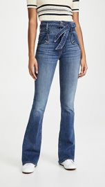 Veronica Beard Jean Giselle High Rise Flare Skinny Jeans at Shopbop