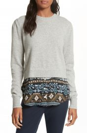 Veronica Beard Jenson Layered Hem Cashmere Sweater at Nordstrom