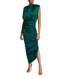 Veronica Beard Kendall Shirred Sleeveless Dress at Neiman Marcus
