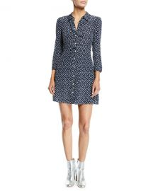 Veronica Beard Kingsley Floral Snap-Front Shirtdress at Neiman Marcus
