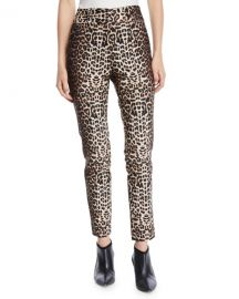 Veronica Beard Lago Leopard-Print Straight-Leg Trousers at Neiman Marcus