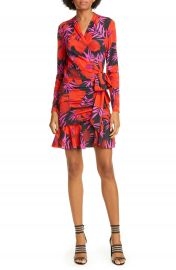 Veronica Beard Lorina Floral Long Sleeve Silk Stretch Minidress   Nordstrom at Nordstrom