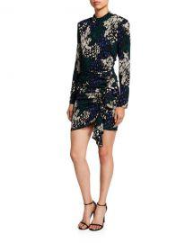 Veronica Beard Louella Long-Sleeve Silk Dress at Neiman Marcus