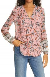 Veronica Beard Lowell Metallic Silk Blouse   Nordstrom at Nordstrom