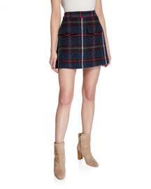 Veronica Beard Lucy Check Mini Skirt at Neiman Marcus