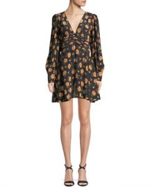 Veronica Beard Marion Long-Sleeve Floral Mini Dress at Neiman Marcus