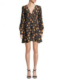 Veronica Beard Marion Long-Sleeve Floral Mini Dress at Neiman Marcus