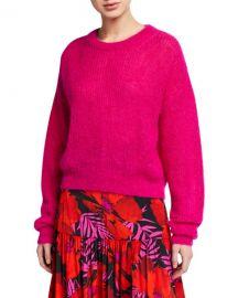 Veronica Beard Melinda Mohair Crewneck Sweater at Neiman Marcus