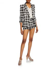 Veronica Beard Miller Dickey Checker Jacket at Neiman Marcus