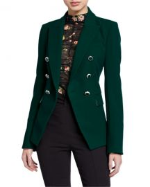 Veronica Beard Miller Dickey Jacket with Enamel Buttons at Neiman Marcus