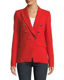 Veronica Beard Miller Double-Breasted Dickey Jacket at Neiman Marcus