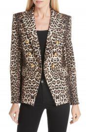 Veronica Beard Miller Leopard Print Dickey Jacket at Nordstrom
