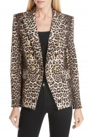 Veronica Beard Miller Leopard Print Dickey Jacket at Nordstrom