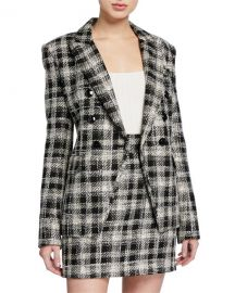 Veronica Beard Miller Plaid Dickey Jacket at Neiman Marcus