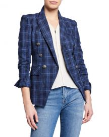 Veronica Beard Miller Plaid Wool-Blend Dickey Jacket at Neiman Marcus