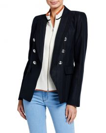Veronica Beard Miller Striped Dickey Jacket at Neiman Marcus