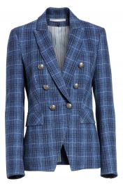Veronica Beard Miller Wool Blend Plaid Dickey Jacket   Nordstrom at Nordstrom