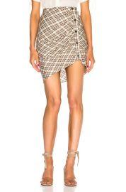 Veronica Beard Murphy Skirt in Rust   Ecru   FWRD at Forward