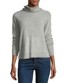 Veronica Beard Oliver Funnel-Neck Pullover Cashmere Sweater at Neiman Marcus