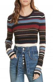 Veronica Beard Palmas Metallic Stripe Sweater   Nordstrom at Nordstrom