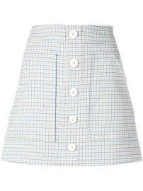 Veronica Beard Plaid Button Skirt - Farfetch at Farfetch