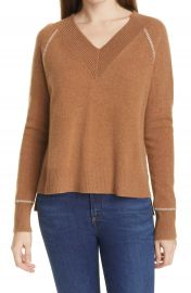 Veronica Beard Preta V-Neck Cashmere Sweater   Nordstrom at Nordstrom