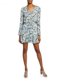 Veronica Beard Riggins Floral Button-Front Dress at Neiman Marcus