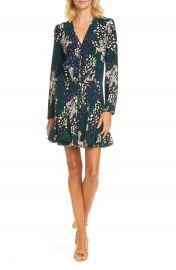 Veronica Beard Riggins Floral Long Sleeve Stretch Silk Minidress   Nordstrom at Nordstrom