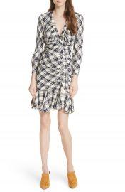 Veronica Beard Rowe Asymmetrical Button Dress at Nordstrom