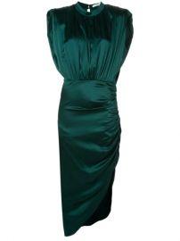 Veronica Beard Ruched Asymmetric Hem Dress - Farfetch at Farfetch
