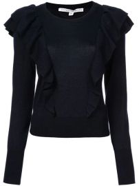 Veronica Beard Ruffle Detail Sweater - Farfetch at Farfetch
