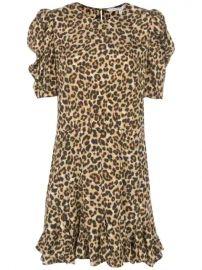 Veronica Beard Ruffled Hem Leopard Print Dress - Farfetch at Farfetch