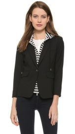 Veronica Beard Schoolboy Jacket with Striped Dickey at Shopbop