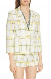 Veronica Beard Schoolboy Plaid Dickey Jacket   Nordstrom at Nordstrom