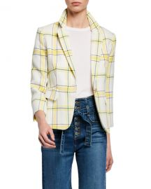Veronica Beard Schoolboy Shrunken Plaid Jacket at Neiman Marcus